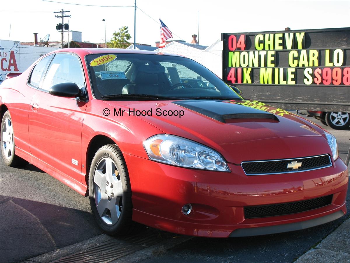 2000 2001 2002 2003 2004 2005 2006 2007 Chevy Monte Carlo Hood Scoop Hs009 By Mrhoodscoop