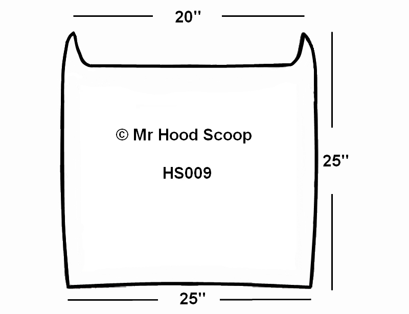 2003 - 2009 Dodge Ram 2500/3500 Hood Scoop Kit With Grille Insert HS009  unpainted or painted