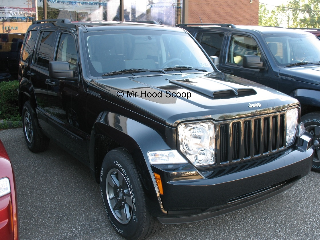 2008 2013 Jeep Liberty Hood Scoop Kit With Grille Insert Hs002 Unpainted Or Painted