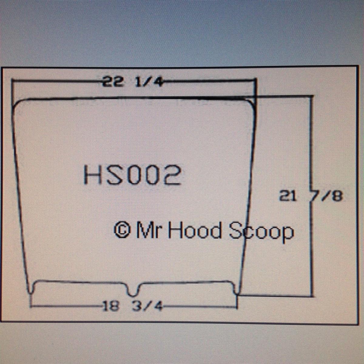 2015-2017 Ford F150 Hood Scoop By MrHoodScoop PAINTED HS002
