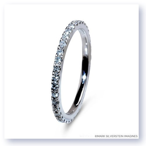 Mark Silverstein Imagines Polished 18K White Gold and Diamond Eternity Band