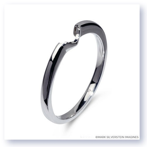 Mark Silverstein Imagines Polished 18K White Gold Notched Wedding Band