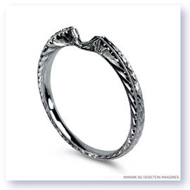 Mark Silverstein Imagines Hand Engraved 18K White Gold Notched Wedding Band
