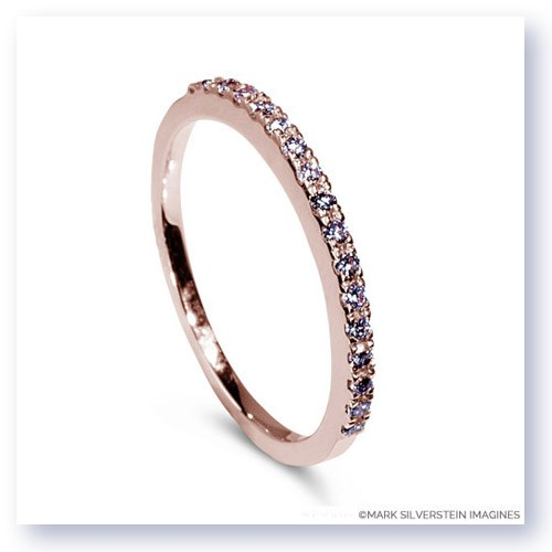 Mark Silverstein Imagines 18K Rose Gold Half Diamond Eternity Band
