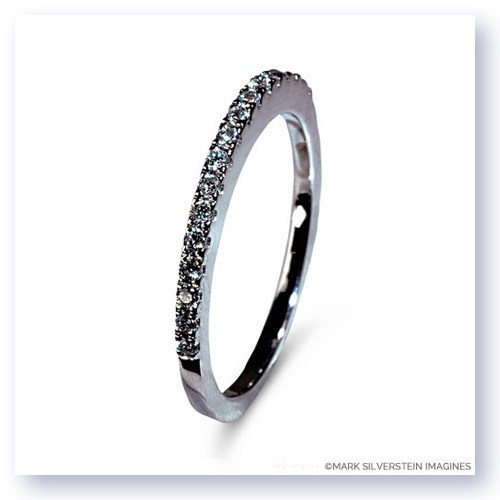 Mark Silverstein Imagines 18K White Gold Half Diamond Eternity Band