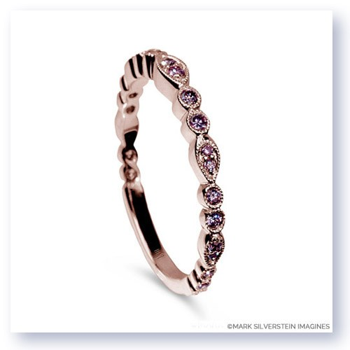 Mark Silverstein Imagines 18K Rose Gold and Pink Diamond Half Eternity Band