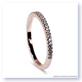 Mark Silverstein Imagines Thin 18K Rose Gold Half Diamond Eternity Band