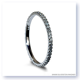 Mark Silverstein Imagines Thin 18K White Gold Diamond Eternity Band