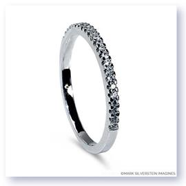 Mark Silverstein Imagines Thin 18K White Gold Half Diamond Eternity Band