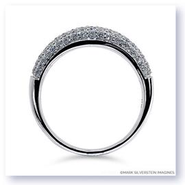 Mark Silverstein Imagines 18K White Gold Half Diamond Domed Wedding Band
