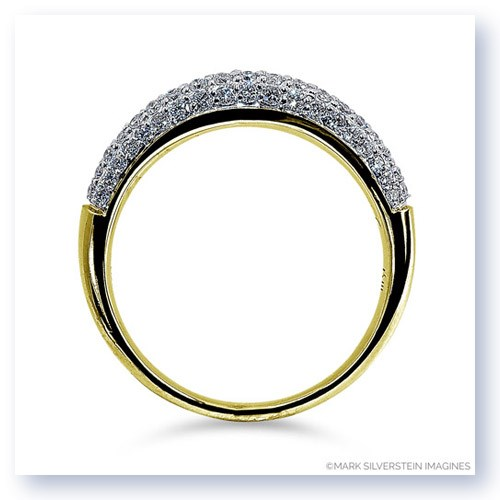 Mark Silverstein Imagines 18K Yellow Gold Half Diamond Domed Wedding Band