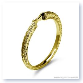 Mark Silverstein Imagines Engraved Tapered 18K Yellow Gold Notched Wedding Band