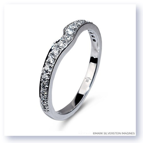 Mark Silverstein Imagines Notched 18K White Gold Wedding Band