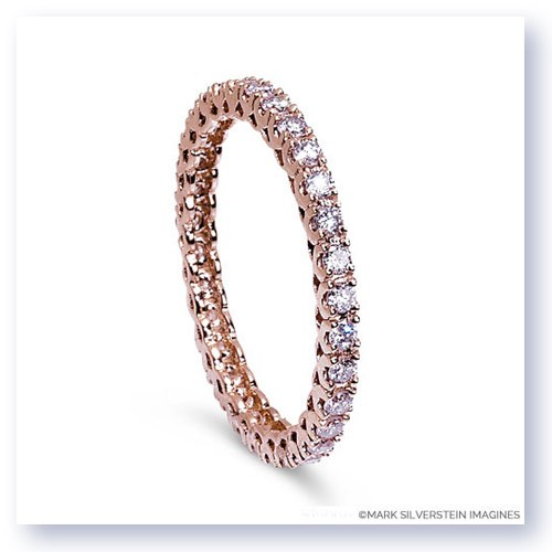 Mark Silverstein Imagines Stackable Polished 18K Rose Gold Pink Diamond Eternity Ring