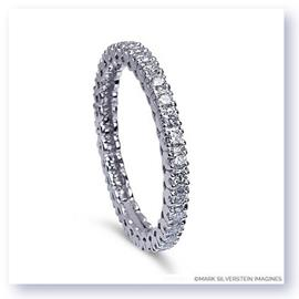 Mark Silverstein Imagines Stackable Polished 18K White Gold Diamond Eternity Ring