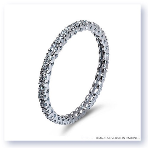 Mark Silverstein Imagines Stackable Polished Thin 18K White Gold Diamond Eternity Ring