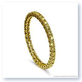 Mark Silverstein Imagines Stackable Polished Thin 18K Yellow Gold Diamond Eternity Ring