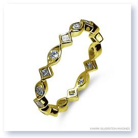 Mark Silverstein Imagines Marquise and Diamond Shaped Stackable Diamond Fashion Ring in 18K Yellow Gold