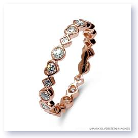 Mark Silverstein Imagines Marquise, Heart and Diamond Shaped Stackable Diamond Fashion Ring in 18K Rose Gold