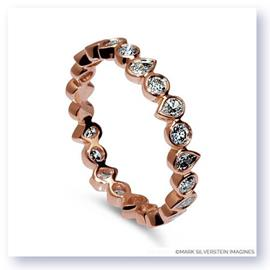 Mark Silverstein Imagines Round and Pear Shaped Stackable 18K Rose Gold Diamond Fashion Ring