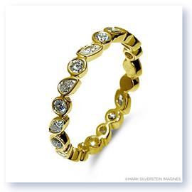 Mark Silverstein Imagines Round, Pear and Marquise Shaped Diamond 18K Yellow Gold Stackable Fashion Ring