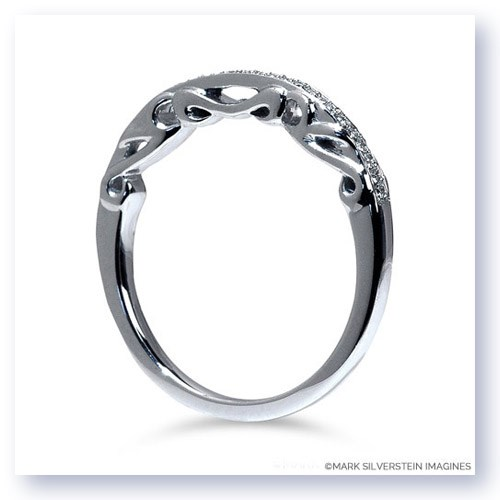 Mark Silverstein Imagines Polished 18K White Gold Sculpted Design Wedding Band