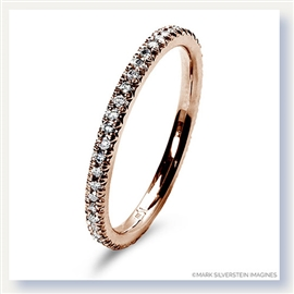 Mark Silverstein Imagines 18K Rose Gold Micro Pavé Set Diamond Eternity Band