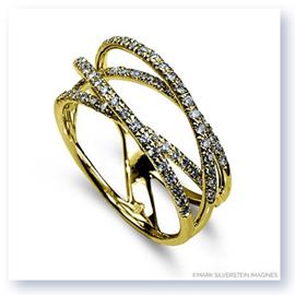 Mark Silverstein Imagines 18K Yellow Gold and Diamond Strand Crossover Band