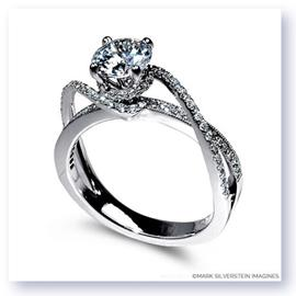 Mark Silverstein Imagines 18K White Gold Diamond Swirl Strand Engagement Ring