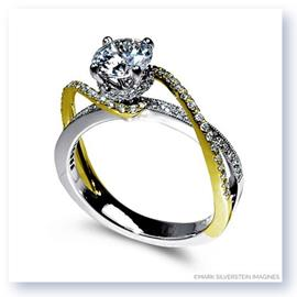 Mark Silverstein Imagines 18K White and Yellow Gold Diamond Swirl Strand Engagement Ring