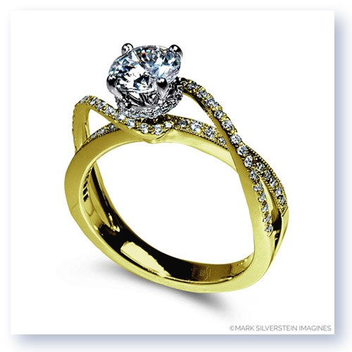 Mark Silverstein Imagines 18K Yellow Gold Diamond Swirl Strand Engagement Ring