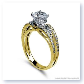 Mark Silverstein Imagines 18K Yellow Gold Split Shank Open Wave and Diamond Engagement Ring