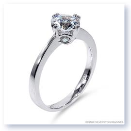 Mark Silverstein Imagines 18K White Gold Modern Diamond Engagement Ring