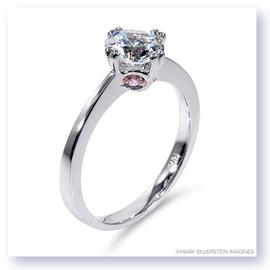 Mark Silverstein Imagines 18K White Gold Modern White and Pink Diamond Engagement Ring