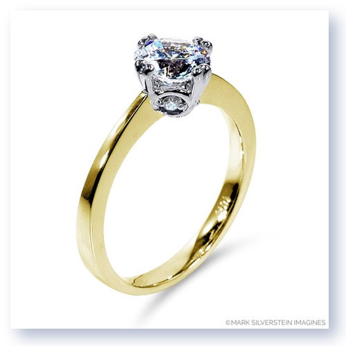 Mark Silverstein Imagines 18K Yellow Gold Modern Diamond Engagement Ring