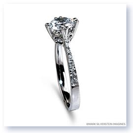 Mark Silverstein Imagines 18K White Gold Diamond Accent Engagement Ring
