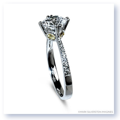 Mark Silverstein Imagines 18K White and Yellow Gold Yellow Diamond Accent Engagement Ring