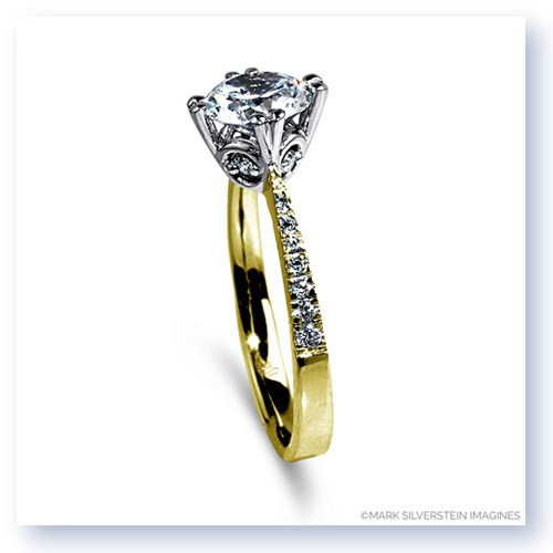 Mark Silverstein Imagines 18K Yellow Gold Diamond Accent Engagement Ring