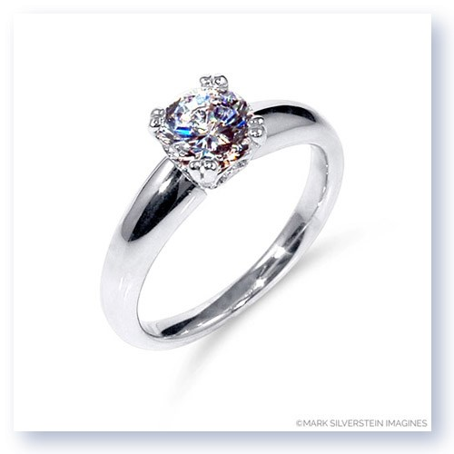Mark Silverstein Imagines 18K White Gold Diamond Accent Tapered Engagement Ring