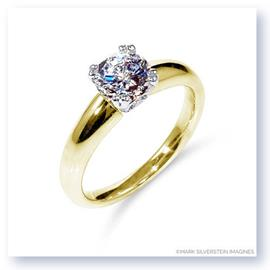 Mark Silverstein Imagines 18K Yellow Gold Diamond Accent Tapered Engagement Ring