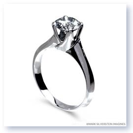 Mark Silverstein Imagines Polished 18K White Gold Tulip Twist Engagement Ring