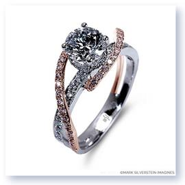 Mark Silverstein Imagines 18K White and Rose Gold Double Strand Twist Diamond Engagement Ring