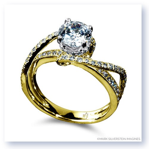 Mark Silverstein Imagines 18K White Gold Double Strand Twist Diamond Engagement Ring