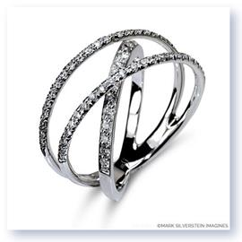 Mark Silverstein Imagines 18K White Gold Three Strand Crossover Diamond Band