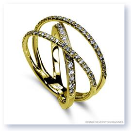 Mark Silverstein Imagines 18K Yellow Gold Three Strand Crossover Diamond Band