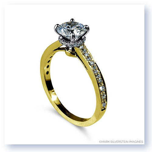 Mark Silverstein Imagines Polished 18K Yellow Gold Modern Solitaire Engagement Ring