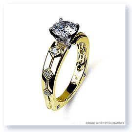Mark Silverstein Imagines 18K Yellow Gold Euro Style Diamond Engagement Ring
