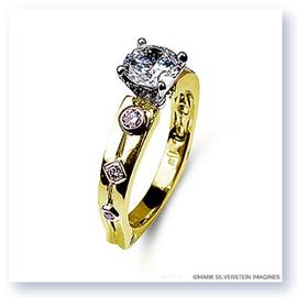 Mark Silverstein Imagines 18K Yellow and Rose Gold Pink Diamond Euro Style Engagement Ring