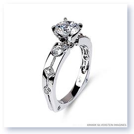 Mark Silverstein Imagines 18K White Gold Euro Style Diamond Engagement Ring