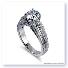 Mark Silverstein Imagines 18K White Gold Multi-Level Diamond Engagement Ring